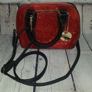 NWOT STEVE MADDEN red glitter purse, $118
